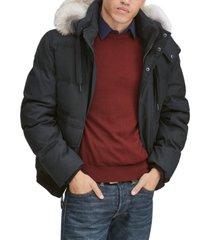 marc new york men's bohlen down bomber jacket with coyote trim hood