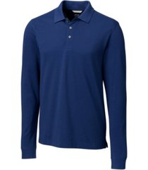 cutter & buck men's advantage long sleeve polo