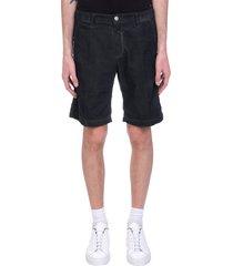 massimo alba vela shorts in black cotton