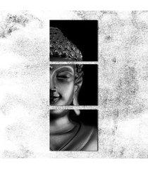 11022 media cabeza buda cabeza negra frameles pintura en tela, decorac