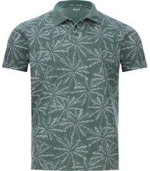 polo hombre hojas palmeras color verde, talla xs
