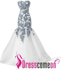 mermaid prom dresses,sweetheart prom dresses,long white evening/party gown ba39