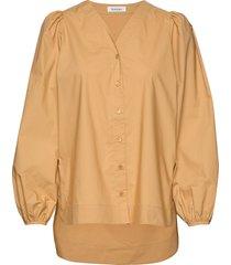 orion blouse lange mouwen geel rodebjer