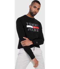 buzo negro-blanco-rojo tommy jeans