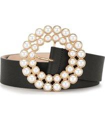 b-low the belt pearl buckle belt - black