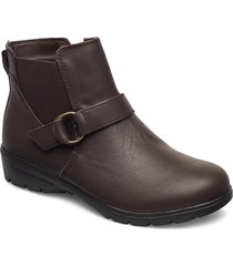 womens relaxed fit: metronome - restless shoes boots ankle boots ankle boot - flat brun skechers