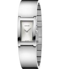 calvin klein women's polish stainless steel bangle bracelet watch 22mm