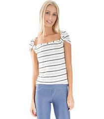 blusa lucy in the sky anel off-white - kanui