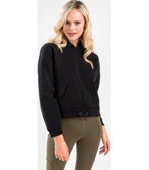 prestin active fleece hoodie - black