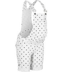 salopette di jeans prémaman (bianco) - bpc bonprix collection