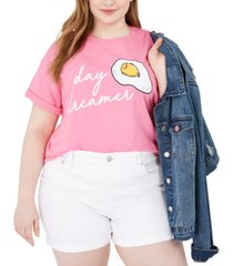 love tribe trendy plus size day dreamer cotton graphic t-shirt
