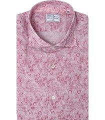 pink sean tiles printed panamino man shirt