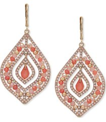 lonna & lilly gold-tone pave & bead chandelier earrings