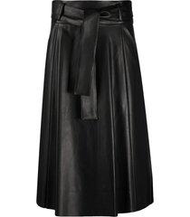 drome tie-waist a-line skirt - black