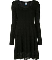 m missoni fine knit dress - black