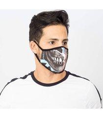 máscara lavável tripla camada com feltro batman duble face emporio alex malha tnt multicolorido