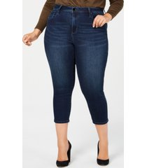 seven7 trendy plus size cropped skinny jeans