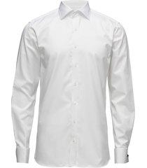 hawk slim shirt double cuff skjorta business vit oscar jacobson