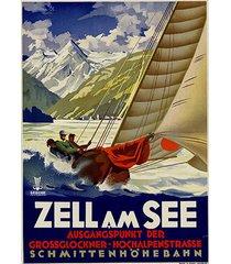 zell am see - schmittenhohenbahn - vintage travel poster - poster - canvas -