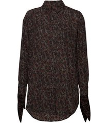 how blouse lange mouwen bruin munthe