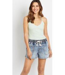 maurices womens blue denim weekender 3.5in shorts