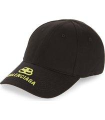 men's balenciaga bb logo baseball cap -
