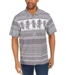 tommy bahama men's botanical border short sleeve camp shirt