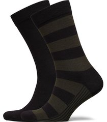 sock ankle bb block stripe underwear socks regular socks multi/mönstrad björn borg