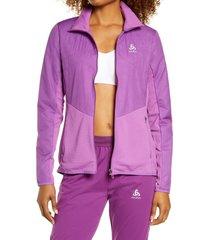 women's odlo millenium s-thermic jacket, size small - purple