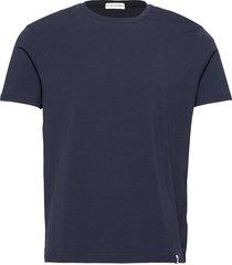 panos emporio organic cotton tee crew t-shirts short-sleeved blå panos emporio