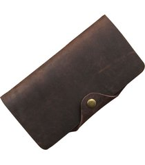 wallet men leather wallets vintage crazy horse hasp long purses luxury designer