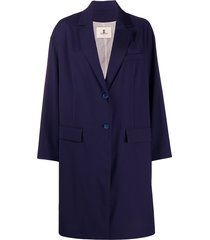 barena buttoned boxy fit coat - blue