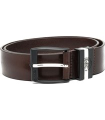 diesel distressed-effect belt - brown