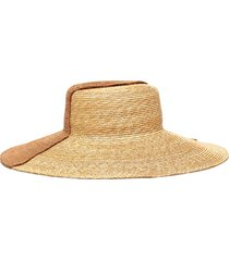 bicolour wide brim hat