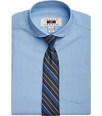 joseph abboud boys light blue dress shirt & tie set