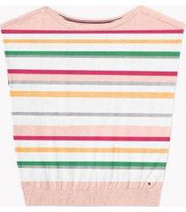 tommy hilfiger women's adaptive stripe sweater t-shirt bright white multi - xl