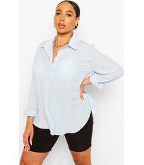 plus oversized shirt, blue