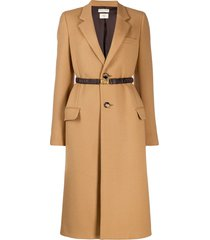 bottega veneta belted single-breasted coat - neutrals