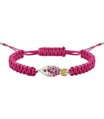 braccialetto mustique sea life fish, rosa, placcato palladio