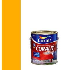 esmalte sintético brilhante coralit amarelo 3,6l - coral - coral