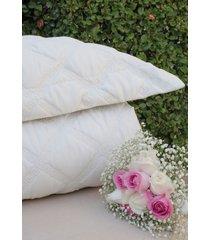 colcha com porta travesseiro trapuntada grega pã©rola - scavone - off-white - dafiti