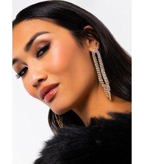 akira waterfall tassel rhinestone earring