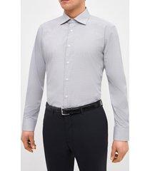 camisa formal microdiseño gris trial