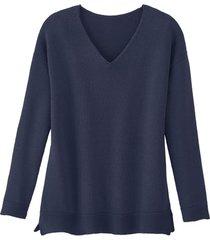 v-hals-pullover, indigo 36/38