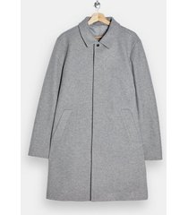 mens grey gray classic fit overcoat