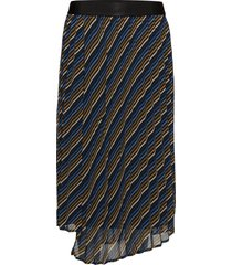 riba skirt ma18 knälång kjol blå gestuz