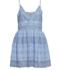 ella dress korte jurk blauw by malina