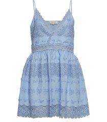 ella dress korte jurk blauw by malina