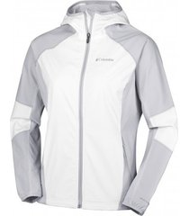 columbia jas sweet as softshell hoodie white cirrus grey-m