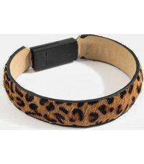 genevieve leopard phone cable bracelet - leopard